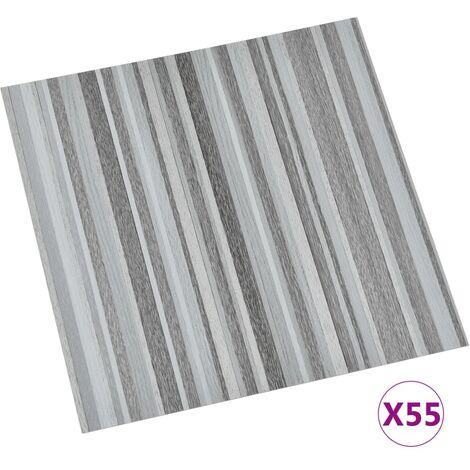 vidaXL Lamas para suelo autoadhesivas 55 piezas PVC 5,11 m² gris claro - Gris