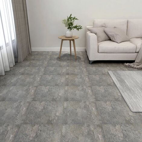 vidaXL Lamas para suelo autoadhesivas 55 piezas PVC 5,11 m² gris - Gris
