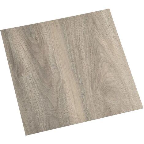 vidaXL Lamas para suelo autoadhesivas 55 piezas PVC 5,11 m² gris taupe - Gris Topo