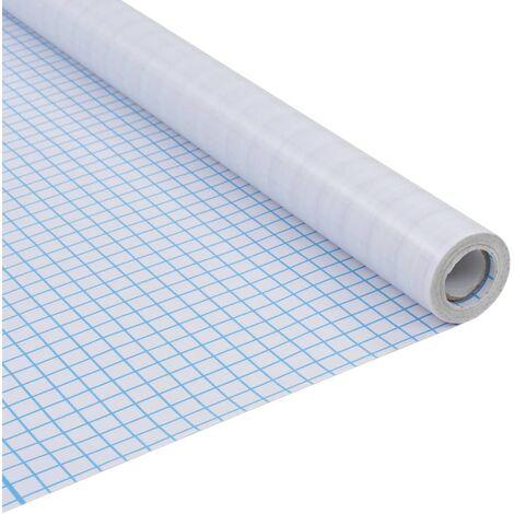 vidaXL Lámina adhesiva esmerilada ventana privacidad rayas 0,9x50 m - Blanco