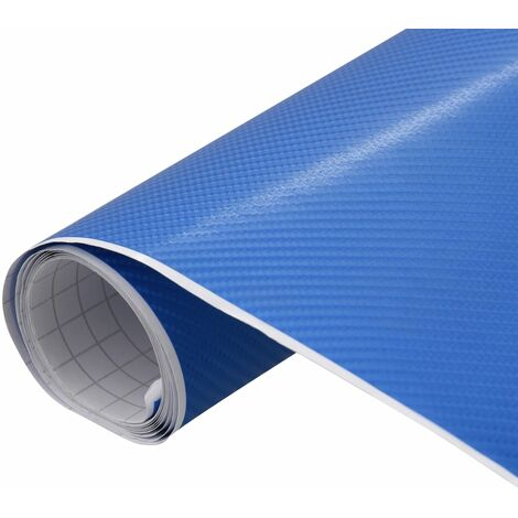 vidaXL Lámina para coches azul mate 4D 500x152 cm