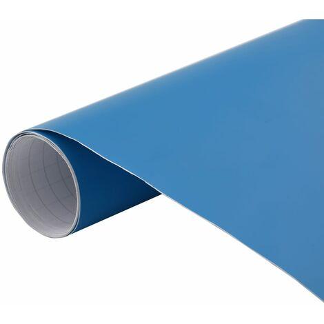 vidaXL Lámina para coches azul mate 500x152 cm