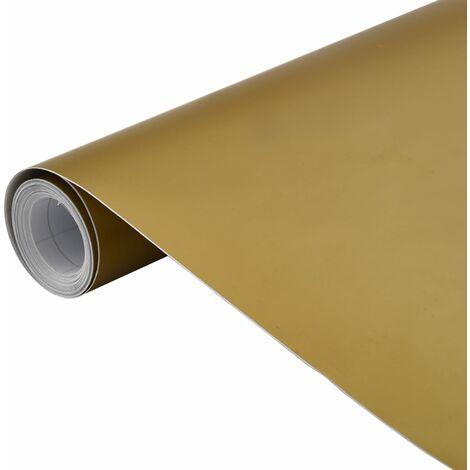vidaXL Lámina para coches dorado mate 500x152 cm