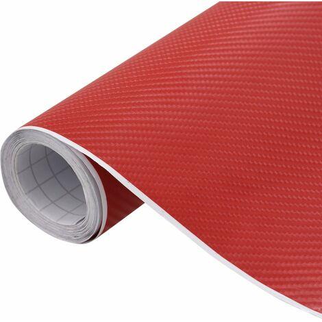 vidaXL Lámina para coches rojo mate 4D 200x152 cm