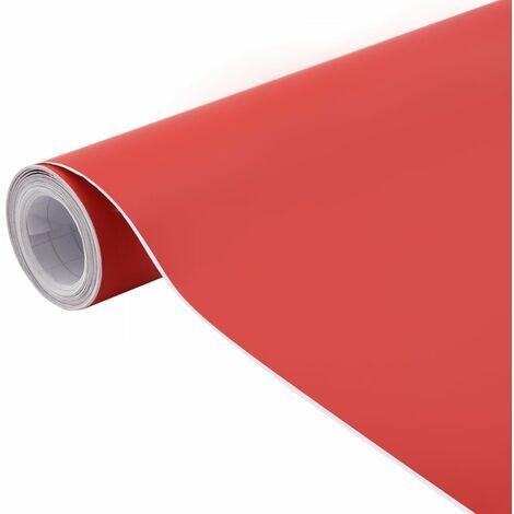 vidaXL Lámina para coches rojo mate 500x152 cm