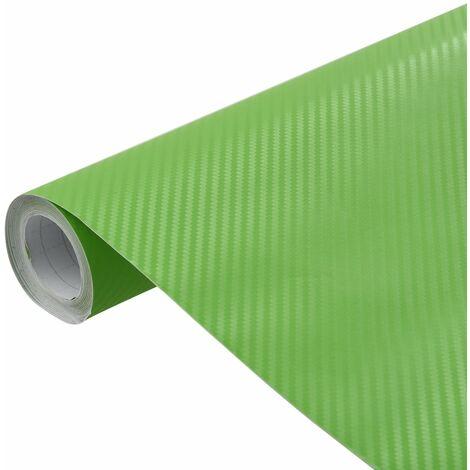 vidaXL Lámina para coches verde mate 3D 500x152 cm