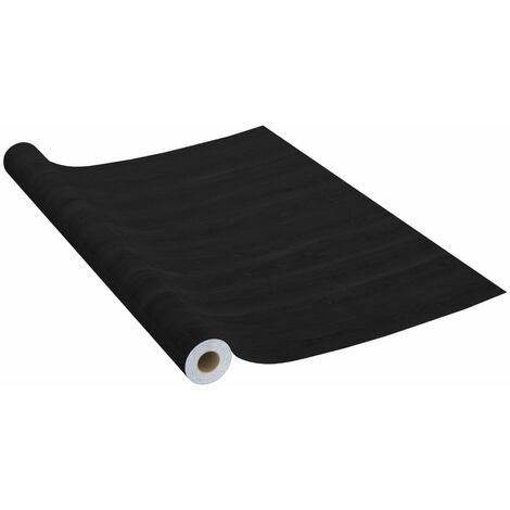 vidaXL Láminas autoadhesivas para muebles PVC madera oscura 500x90 cm - Nero