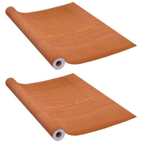 vidaXL Láminas autoadhesivas para muebles PVC roble claro 500x90 cm - Beige