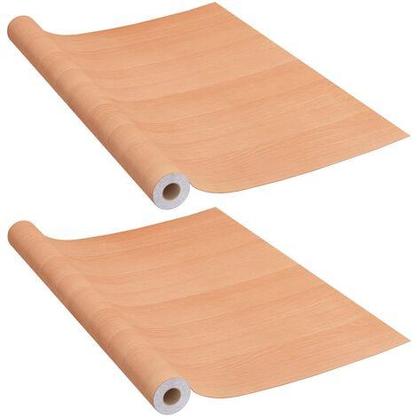 vidaXL Láminas autoadhesivas para muebles PVC roble japonés 500x90 cm - Beige