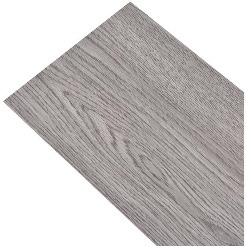 Tidyard Selbstklebende PVC Bodenplanken Fliesen 5,11 m/² PVC Laminat Dielen Taupe 55 STK