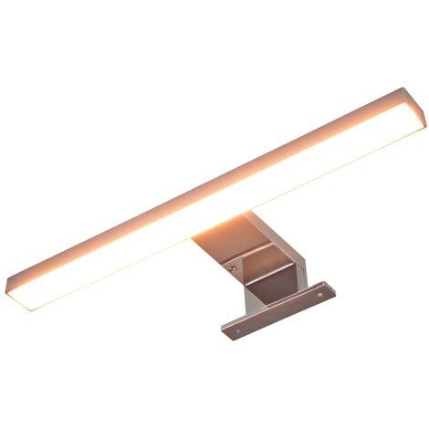 vidaXL Lámpara de Espejo Luz Baño Oficina Despacho Bombilla Salón Sala de Estar Iluminación Ambiente Decoración Blanca Cálida/Fría 5 W/8 W