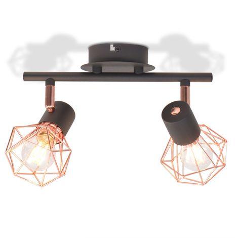 vidaXL Lampara de techo con 2 bombillas de filamento LED 8 W