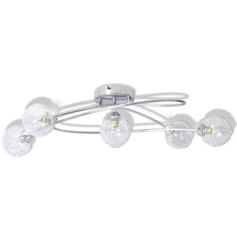 """main image of """"vidaXL Lámpara de techo pantalla de malla de alambre 5 bombillas G9 - Transparente"""""""