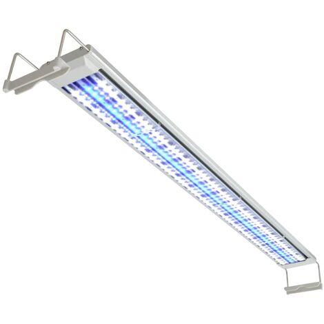 vidaXL Lámpara LED de acuario 120-130 cm aluminio IP67