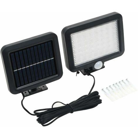 """main image of """"vidaXL Lámpara solar con sensor de movimiento luz LED blanco - Negro"""""""
