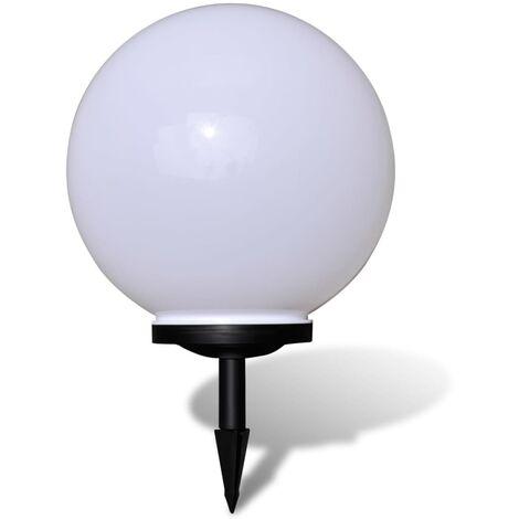 vidaXL Lámpara solar LED para el jardín 40 cm con pica de tierra - Blanco
