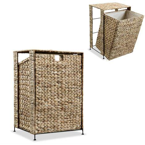 vidaXL Laundry Basket 44x34x64 cm Water Hyacinth - Brown