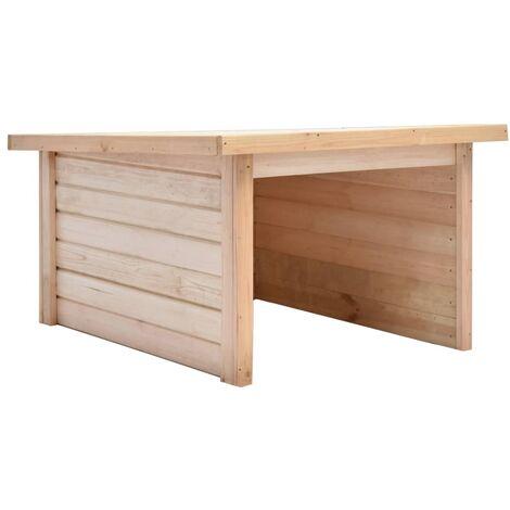 vidaXL Lawn Mower Garage 92x104x59.5 cm Solid Pine Wood 19 mm - Brown