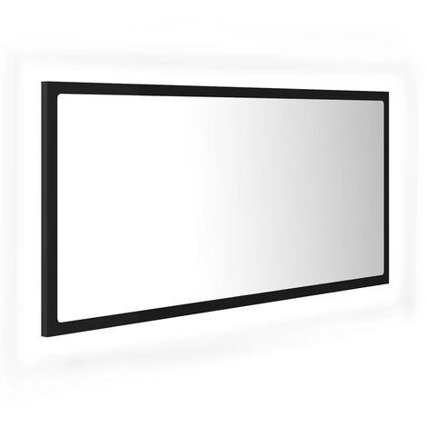 "main image of ""vidaXL LED Bathroom Mirror Black 90x8.5x37 cm Chipboard"""