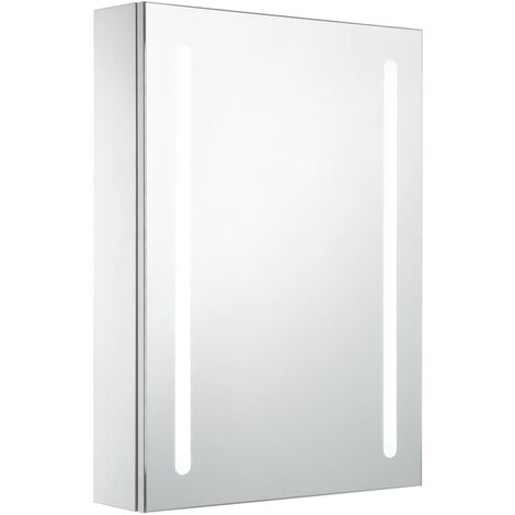 vidaXL LED Bathroom Mirror Cabinet 50x13x70 cm