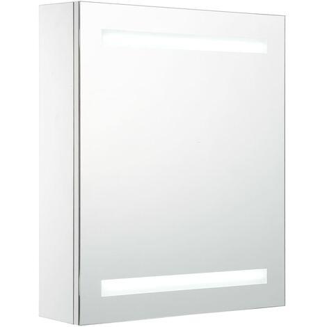 vidaXL LED Bathroom Mirror Cabinet 50x14x60 cm - White