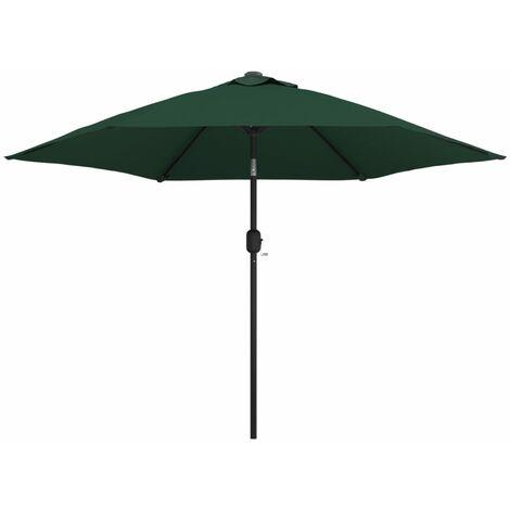 vidaXL LED Cantilever Umbrella 3 m Green - Green