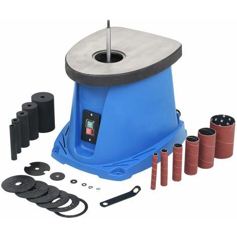 vidaXL Lijadora de huso oscilante 450 W azul