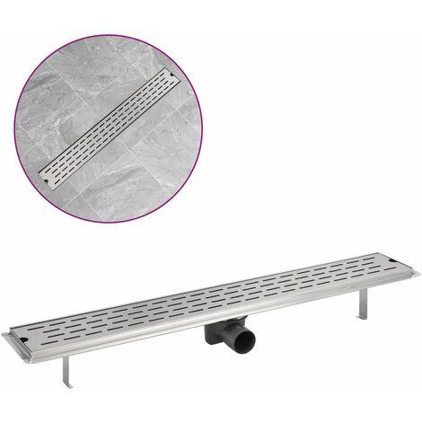 "main image of ""vidaXL Linear Shower Drain Line 530x140 mm Stainless Steel"""