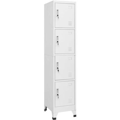 vidaXL Locker Cabinet Storage Cabinet Locker-Style Wardrobe Storage Organiser Office Home with 0/2/3/4/12 Compartments 38/90x45x180 cm