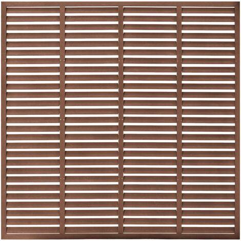 vidaXL Louver Fence WPC 170x170 cm Brown - Brown
