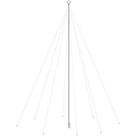 vidaXL Luces de árbol cascada Navidad interior exterior 1300 LEDs 8 m - Blanco