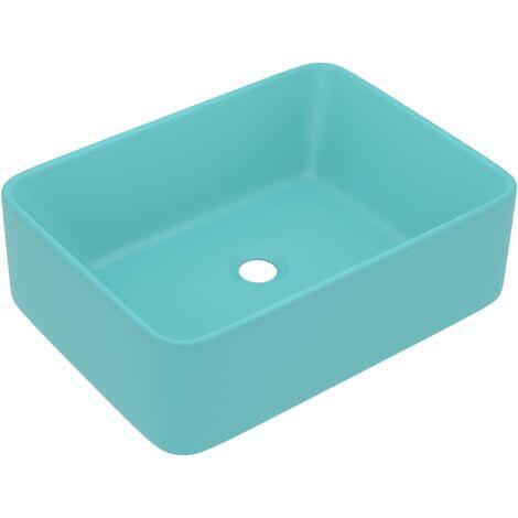 vidaXL Luxury Wash Basin Matt Light Green 41x30x12 cm Ceramic - Green