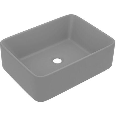 """main image of """"vidaXL Luxury Wash Basin Matt Light Grey 41x30x12 cm Ceramic - Grey"""""""