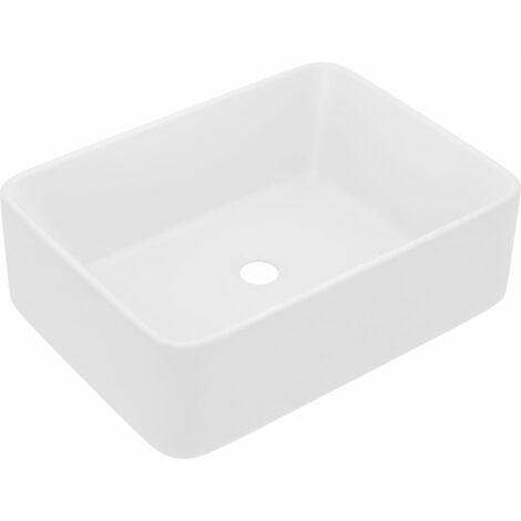 vidaXL Luxury Wash Basin Matt White 41x30x12 cm Ceramic - White