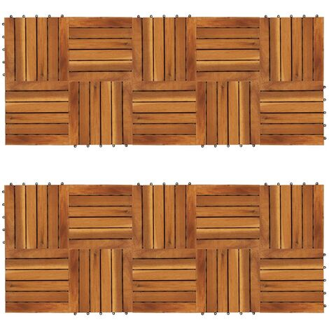 """main image of """"vidaXL Baldosas de porche patrón vertical 20 piezas acacia 30x30 cm - Marrón"""""""