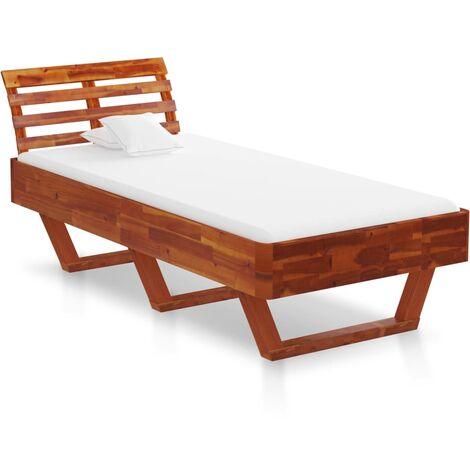 vidaXL Madera Maciza de Acacia Estructura de Cama Dormitorio Casa Robusta Duradera Mobiliario Cómodo Moderna para Adultos Multitalle