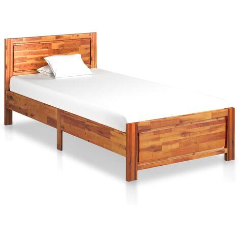 vidaXL Madera Maciza de Acacia Estructura de Cama Habitación Armazón Completa Adulto Adolescente Listones Soporte Interiores Multitalle
