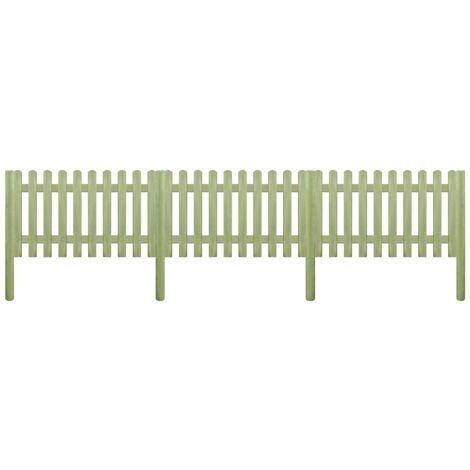 vidaXL Madera Pino Impregnada Valla de Jardín Patio Listones Césped Bordes Cercado Postes Flores Protección Separador Exterior Diferentes Dimensiones