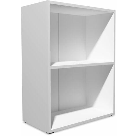 vidaXL Madera Prensada Estantería Organizador Almacenamiento Estudio Libros Sala de Estar Dormitorio Habitación Diferentes Tamaños Roble/Blanca