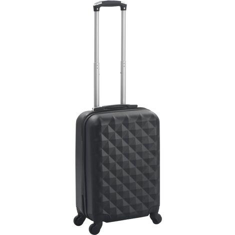 vidaXL Maleta con ruedas trolley rígida negra ABS - Negro