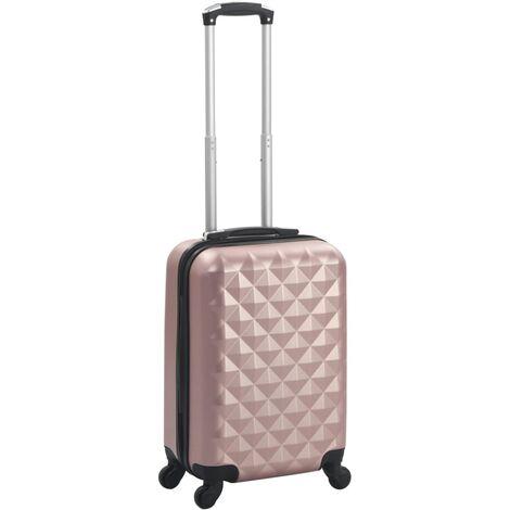 vidaXL Maleta con ruedas trolley rígida rosa dorado ABS - Oro