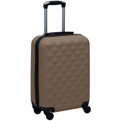vidaXL Maleta rígida con ruedas ABS marrón - Marrón