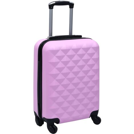 vidaXL Maleta rígida con ruedas ABS rosa - Rosa