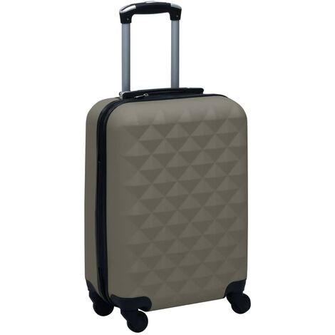 vidaXL Maleta trolley con ruedas rígida ABS gris antracita - Antracita