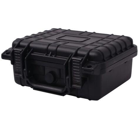 "main image of ""vidaXL Maletín protector de equipo negro 27x24,6x12,4 cm - Negro"""