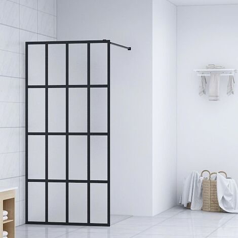 """main image of """"vidaXL Mampara de ducha accesible vidrio templado 118x190 cm - Blanco"""""""