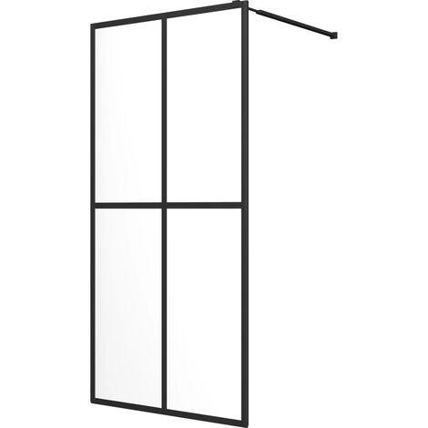 vidaXL Mampara de ducha accesible vidrio templado 80x195 cm - Transparente