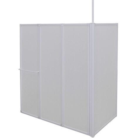 vidaXL Mampara de ducha en forma de L 4 paneles 120x70x137 cm