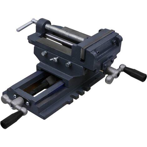 vidaXL Manually Operated Cross Slide Drill Press Vice 127 mm