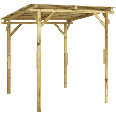 vidaXL Marquesina de jardín madera de pino impregnada 170x170x180 cm - Marrón
